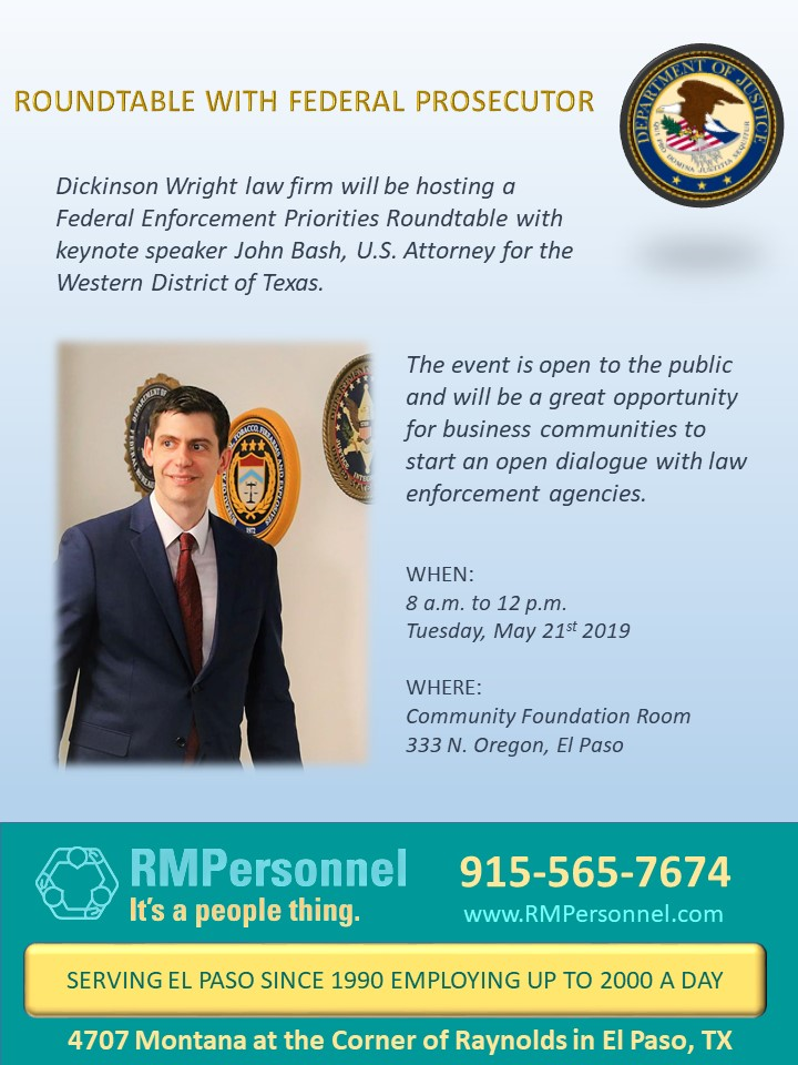 Roundtable with federal prosecutor | RMPersonnel